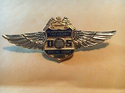 Department of the Treasury Seal logo wings pin