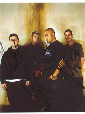 """Staind genuine autograph 6""""x8"""" photo signed In Person US rock band"""