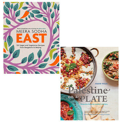 Palestine on a Plate and East 120 Vegetarian and Vegan 2 Books Collection Set