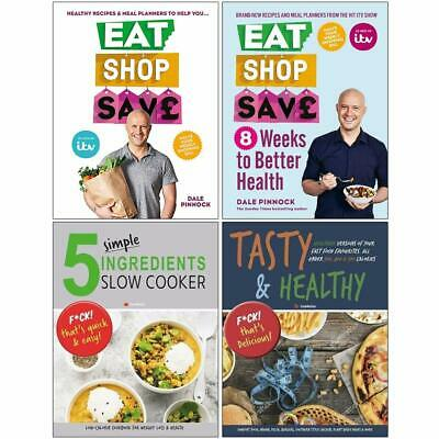 Eat Shop Save,5 Simple Ingredients,Tasty & Healthy 4 Books Collection Set NEW