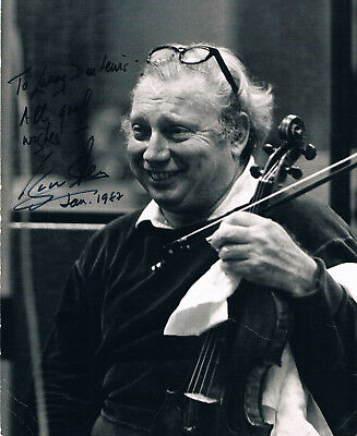 "Isaac Stern 1920-2001 genuine autograph signed 8""x10"" photo conductor violinist"