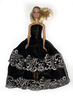 Hand Made Gift Barbie Doll clothes Party outfit Dress Queen Gown Wedding KT-042