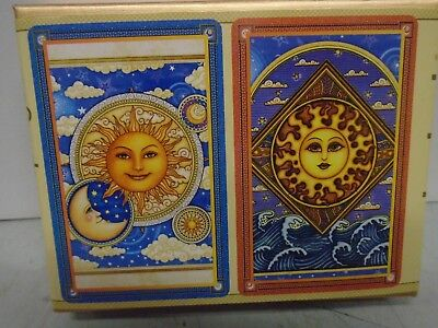 Double Deck of Bridge Playing Cards SUN GODDESS by Springbok BRAND NEW SEALED