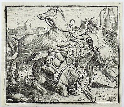 Marcus Gheeraerts I (1521–1636); Master Engraving - The Stallion and the Donkey
