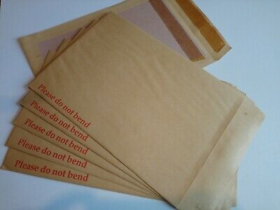 A4 C4 Board Backed Envelopes Hard Card Back 'Please Do Not Bend' Manilla Brown