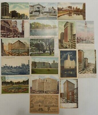 Chicago, ILL & MI - Lot of 27 Postcards - Early 1900's