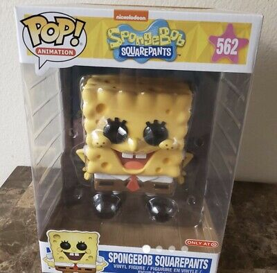 "Funko Pop SpongeBob SquarePants 10"" Figure Target Exclusive In Hand! Giant!"