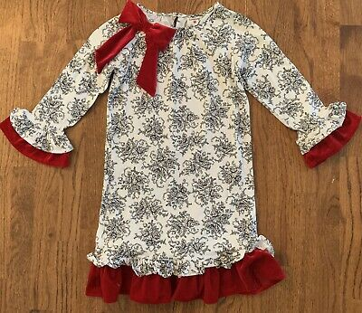 Rare Editions Christmas Dresses.Counting Daisies Rare Editions Christmas Dress Girls Sz 12 Black Toile Red Bow