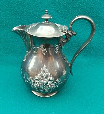 Vintage Antique Silver Plate Coffee Pot / Hot Water Jug Very Nice Condition