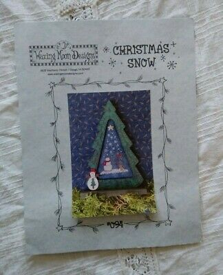 Christmas Snow Snowman Cross Stitch Pattern ~ Waxing Moon Designs