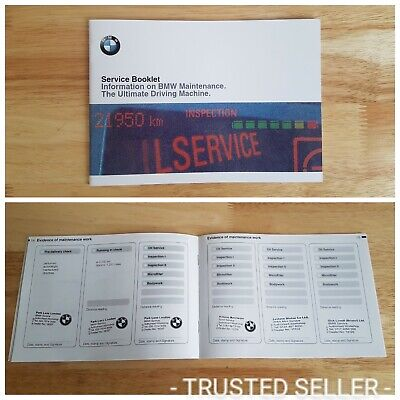 Bmw Service Book (Stamped) Suitable For 1 2 3 4 5 6 7 8 Series Z3 Z4 X1 X3 X5 X6