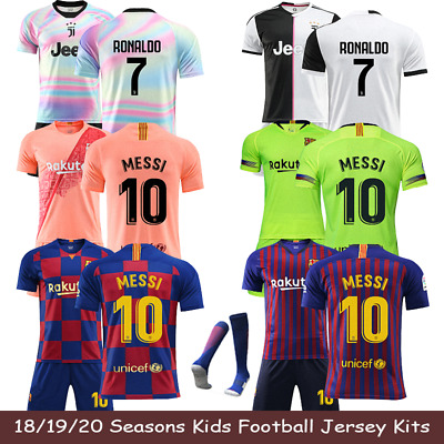 19-20 Kids Football Kits Youth Uniforms Boys Full Kits Soccer Team Suits XS-XL