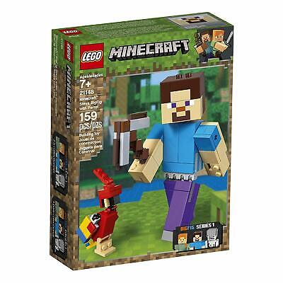 Lego 21148 Minecraft Steve BigFig with Parrot, 159 Pieces, FREE SHIPPING!!!