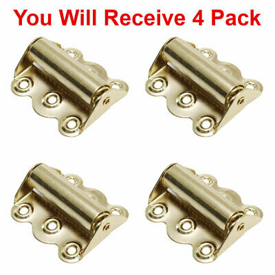 (4-Pack) Screen Door Hinge Hardware Self-Closing Easy Install Polished Brass