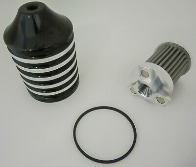 Harddrive billet reusable oil filter black _458013