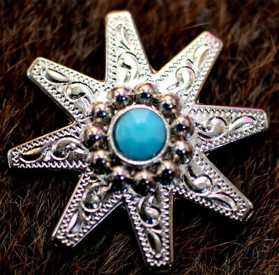 4 Conchos Rhinestone Horse Saddle Western Rodeo Bridle Star CO63