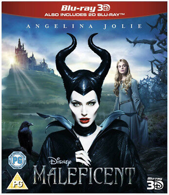 Maleficent Blu-Ray New Rb 3D Blu-Ray Included