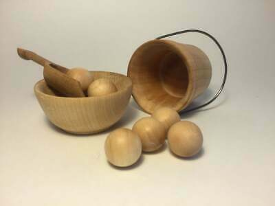 Wooden Balls and Bowl, Wooden Toy, Busy Bag, Natural Toy, Montessori Activity