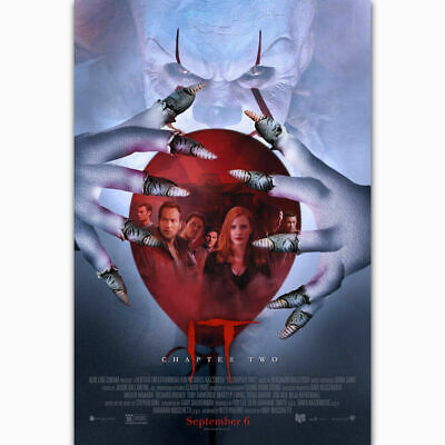T959 Fabric decor Art Poster It Chapter 2Pennywise Stephen King Horror 2019Movie
