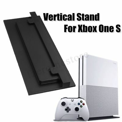 Vented Vertical Stand Dock Holder for Microsoft XBOX ONE S SLIM Console Black