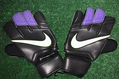 Nike Gk Vapor Grip 3 Soccer Goalkeeper Gloves Size 12 Black White Purple Volt