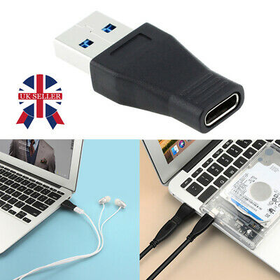 USB 3.1 Type C Female to USB 3.0 A Male Data Adapter for Tablet Mobile Phone NEW
