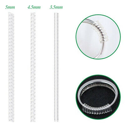6Pcs Ring Size Adjuster Resizer Reducer Snuggies Spiral Sizer Fits All Size NEW