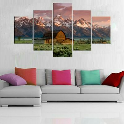 Unframed Chalet Modern Art Oil Painting Print Canvas Picture Home Wall Decor