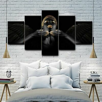 Woman 5pcs Unframed Modern Art Oil Painting Print Canvas Picture Home Wall Decor