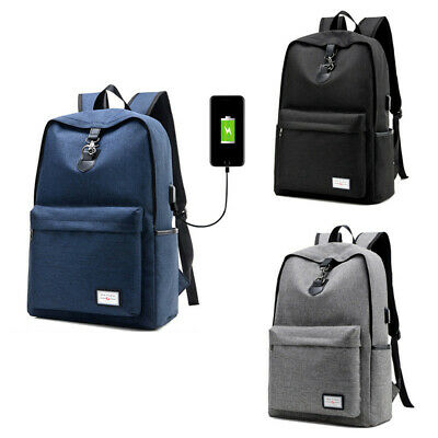 Mens USB Charging Laptop backpack Outdoor Travel Bag Anti-theft Backpack Unisex