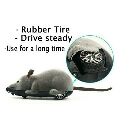 US Remote Control Mouse Rat  Wireless Pet Cat Dog Play Interactive Toy Fun Gift