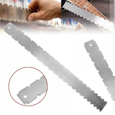 Guitar Neck Notched Straight Edge Luthiers Fingerboard Edge Fret Ruler Tool AU