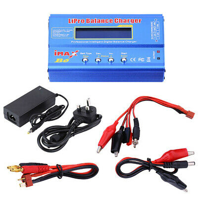 iMAX B6 LCD Digital RC Lipo NiMh Battery Balance Charger Power Adapter Set USA