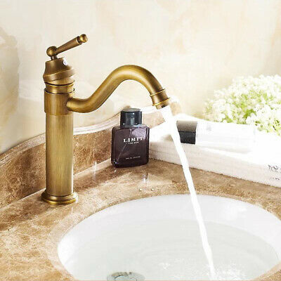 Bathroom Basin Faucet High Sink Vessel Vanity Single Handle Mixing Tap Copper