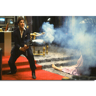 G407 Scarface Say Hello to My Little Friends Classic Movie Al Pacino Art Poster