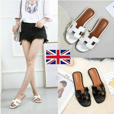 Hot Womens Flat Casual Shoes Flip Flop H Summer Slippers Lady Sliders Sandals UK