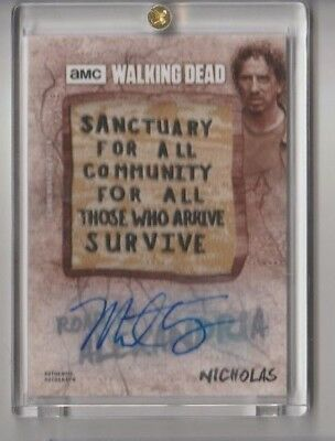2018 WALKING DEAD ROAD TO ALEXANDRIA Signed Autograph Patch Sign Nicholas 09/10