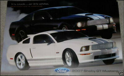 2007 FORD MUSTANG SHELBY GT GT500 SHELBY DEALER PROMO POSTER *BEST DEAL on eBay*