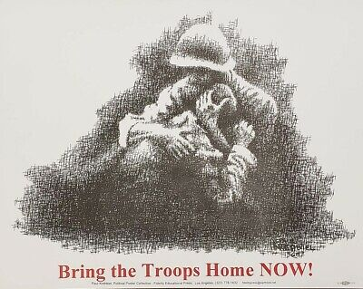 1968 Bring The Troops Home Now Vietnam Era Protest Poster