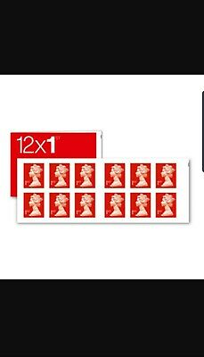 Royal Mail Stamps 1st class Book of 10 x 12 Letter Stamps
