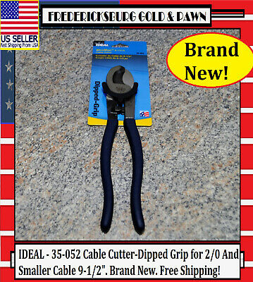 """IDEAL 9-1//2/"""" Cable Cutter Dipped Grip Cuts 2//0 copper and 4//0 aluminum F.Ship"""