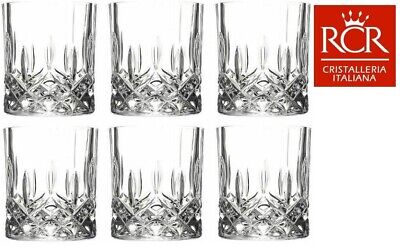 RCR 25981020006 Opera Luxion Italian Crystal Whisky Glasses, Set of 6, Brand New