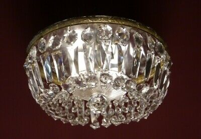 Crystal Ball Glass Ceiling Lamp Light Chandelier Used Plafonnier Brass