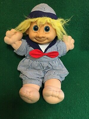 Russ Skippy Troll Kidz Stuffed Soft Troll Doll Sailor Costume Large13""