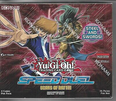 YUGIOH Speed Duel Scars of Battle - Booster Box - SEALED / NEW / FREE SHIP (USA)