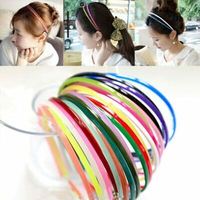 Opaque Candy Color Plastic Headbands Teeth Hair Band Hoop Mixed Color Accessory