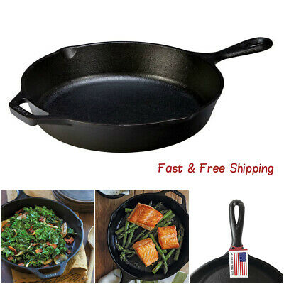 """Cast Iron Skillet, Pre-Seasoned and Ready for Stove Top or Oven Use, 10.25"""""""