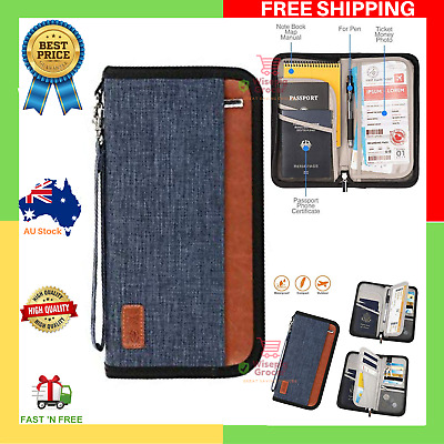 NEW Ultra Large Capacity Passport Holder RFID Blocking Travel Wallet Waterproof