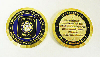 Fayetteville GA Georgia Police Department CHALLENGE COIN Committed To Excellence
