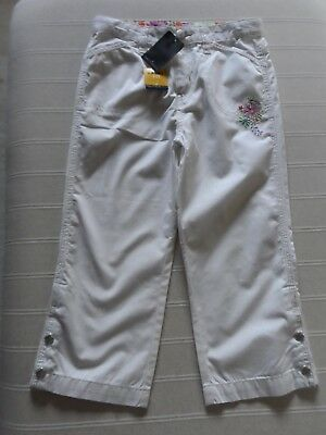 New Fab , Girls Nautica White Crop Cotton Capri Jean Trousers  8 Yrs  Usa 10